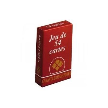 Jeux de 54 Cartes (Rouge)