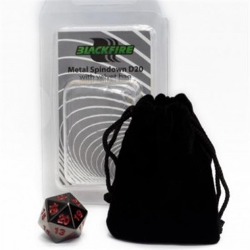 Blackfire Dice - D20 Metal...