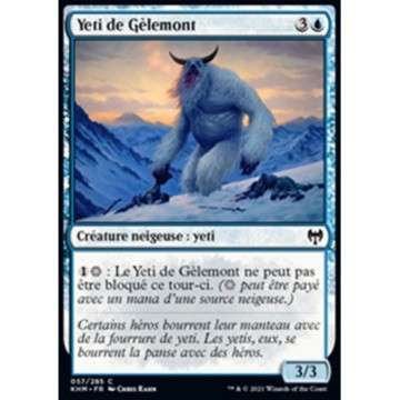 Image de la carte Yeti de Gèlemont de l'édition Kaldheim pour le jeu de cartes à collectionner Magic the Gathering.