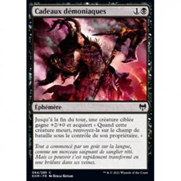 Image de la carte Cadeaux démoniaques de l'édition Kaldheim pour le jeu de cartes à collectionner Magic the Gathering.