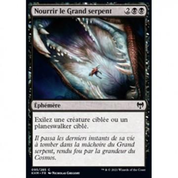 Image de la carte Nourrir le Grand serpent de l'édition Kaldheim pour le jeu de cartes à collectionner Magic the Gathering.