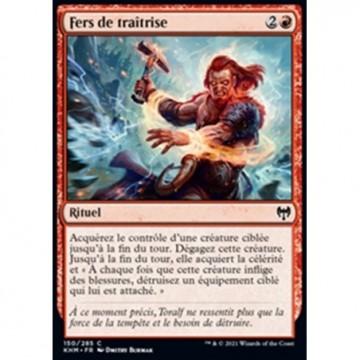 Image de la carte Fers de traîtrise de l'édition Kaldheim pour le jeu de cartes à collectionner Magic the Gathering.