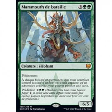 Image de la carte Mammouth de bataille de l'édition Kaldheim pour le jeu de cartes à collectionner Magic the Gathering.
